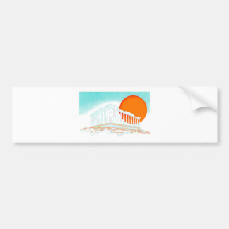 sunset inside Parthenon Bumper Sticker