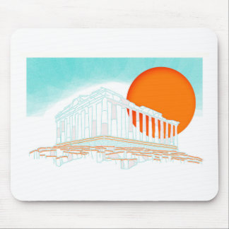 sunset inside Parthenon Mouse Pad