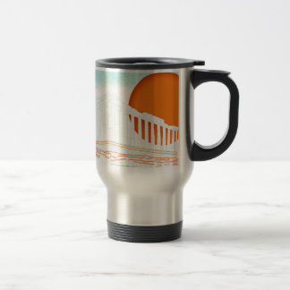 sunset inside Parthenon Travel Mug