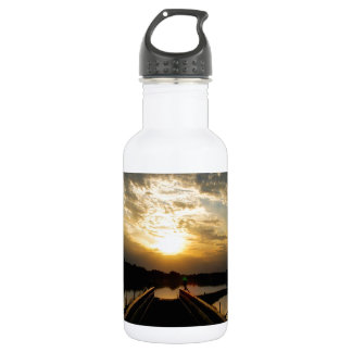 Sunset Into The Jetty Water Bottle