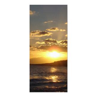 Sunset 4x9.25 Paper Invitation Card