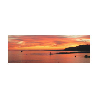 Sunset Is Canvas, Landscape of Almeria Gulf Canvas Print
