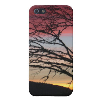 Sunset is custom nature Tree Moutain Covers For iPhone 5