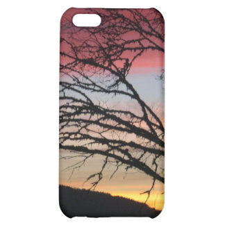 Sunset is custom nature Tree Moutain iPhone 5C Covers