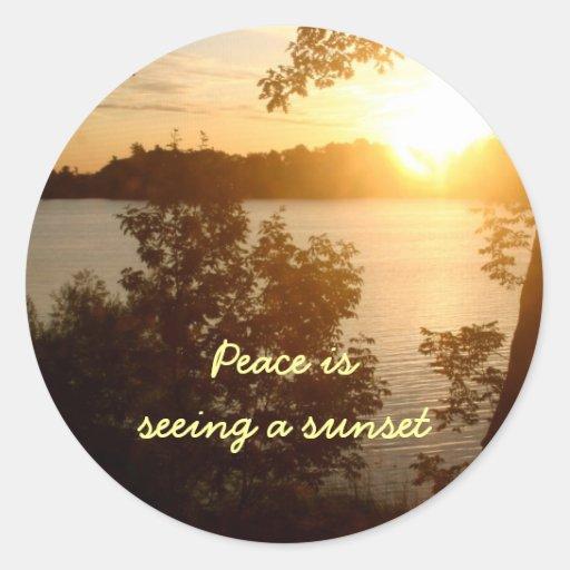 Sunset Is Peace Sticker