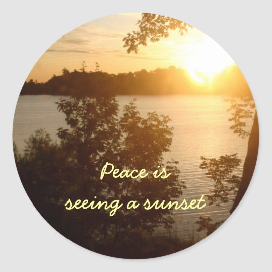 Sunset Is Peace Sticker