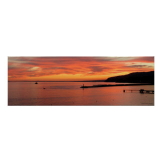 Sunset Is Poster, Lanscape of Almeria Gulf Poster