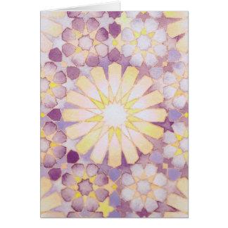 'Sunset' Islamic geometry greeting card
