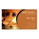 sunset island travel agency business card