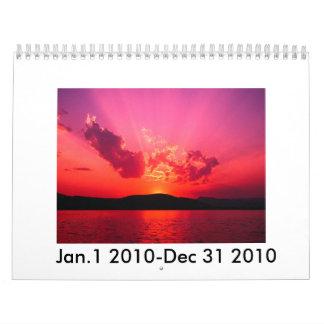 Sunset, Jan.1 2010-Dec 31 2010 Calendar