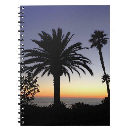 Sunset Journal Spiral Note Book