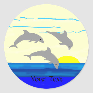 Sunset Jumping Dolphins, Your Text stickers