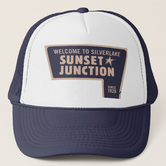 sunset junction trucker hat