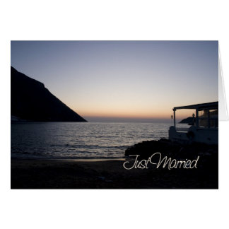 Sunset Just Married Announcement Card