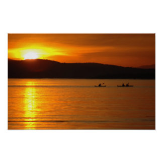 Sunset Kayak Poster