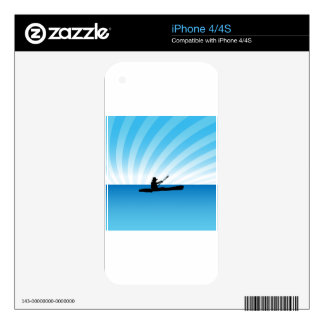 Sunset Kayaking Canoe Silhouette Decals For The iPhone 4S