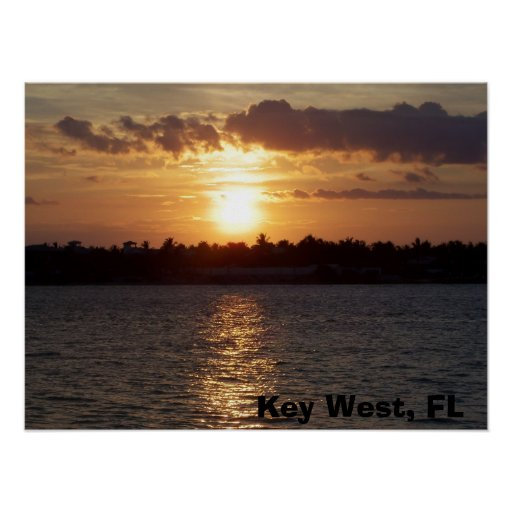 sunset Key West, FL Poster