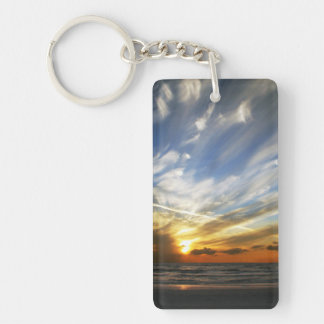 Sunset Keychain Two Sided