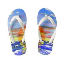 Sunset Kid's Flip Flops