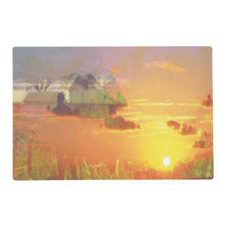 sunset kiss placemat laminated placemat