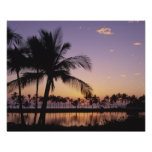 Sunset, Kohala Coast, Island of Hawaii, Hawaii, Poster