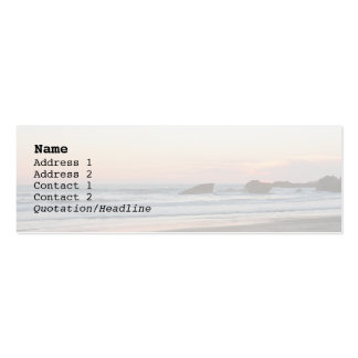 Sunset, la Grande Plage Double-Sided Mini Business Cards (Pack Of 20)