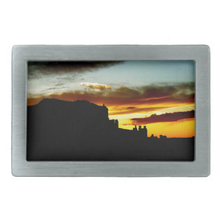 Sunset La Sal Mountains Viewpoint Arches National Belt Buckle