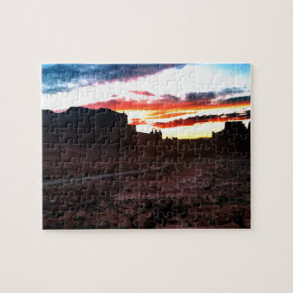 Sunset La Sal Mountains Viewpoint Arches National Jigsaw Puzzle
