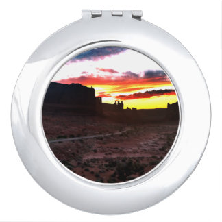 Sunset La Sal Mountains Viewpoint Arches National Makeup Mirror