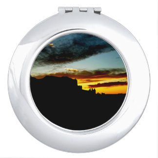 Sunset La Sal Mountains Viewpoint Arches National Mirror For Makeup