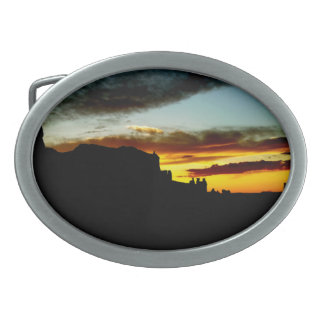 Sunset La Sal Mountains Viewpoint Arches National Oval Belt Buckle