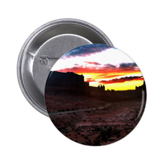 Sunset La Sal Mountains Viewpoint Arches National Pinback Button