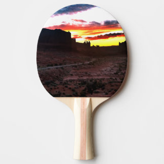Sunset La Sal Mountains Viewpoint Arches National Ping Pong Paddle
