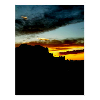 Sunset La Sal Mountains Viewpoint Arches National Postcard
