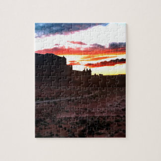 Sunset La Sal Mountains Viewpoint Arches National Puzzle