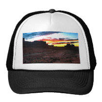 Sunset La Sal Mountains Viewpoint Arches National Trucker Hat