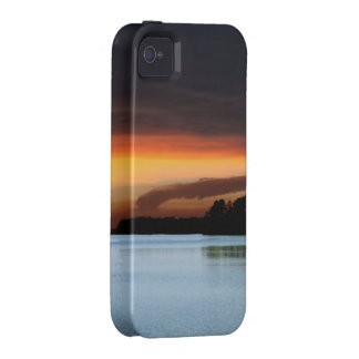 Sunset lake iPhone 4 cases