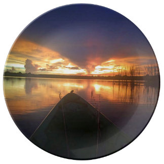 Sunset Lake Dinner Plate