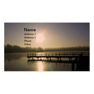 Sunset Lake Double-Sided Standard Business Cards (Pack Of 100)