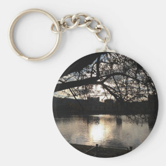 Sunset lake keychain
