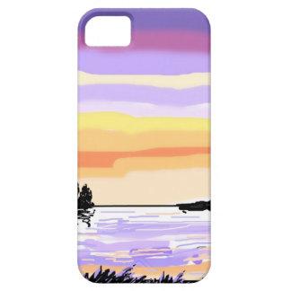 Sunset Lake landscape iPhone 5 Covers