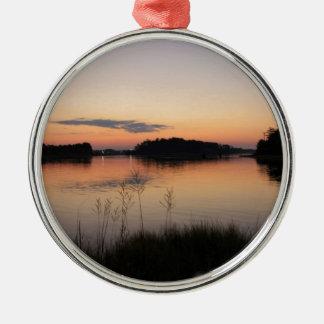 Sunset Lake Metal Ornament