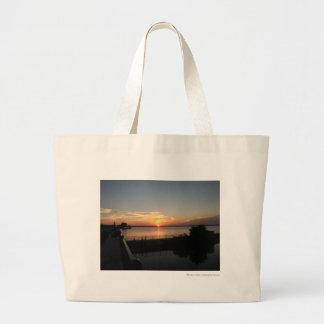 Sunset Lake Overholser Jumbo Tote Bag