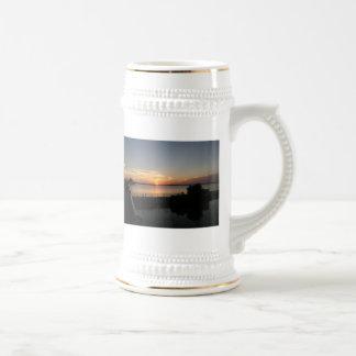 Sunset Lake Overholser 18 Oz Beer Stein