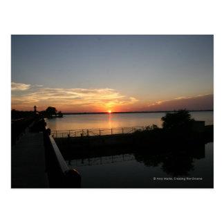 Sunset Lake Overholser Postcard