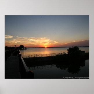 Sunset Lake Overholser Poster