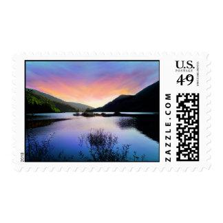 Sunset Lake Photo Stamp