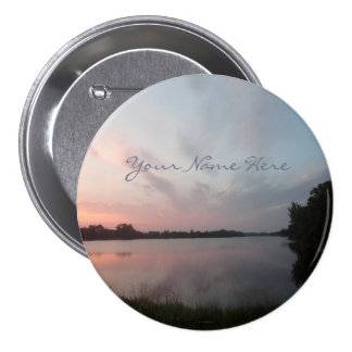 Sunset Lake Pinback Button