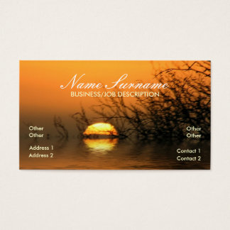 Sunset Lake Reflection Business Card