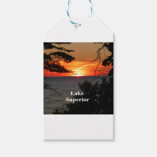 Sunset Lake Superior Gift Tags